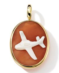 Ippolita | Brown 18k Gold Oval Airplane Cameo Charm | Lyst