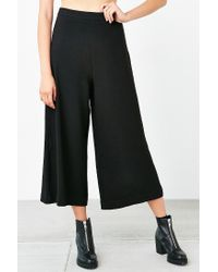 Silence + Noise | Black Modern Crepe Culotte Pant | Lyst