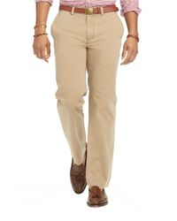Polo Ralph Lauren | Natural Flat Front Chino Pants for Men | Lyst