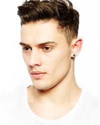 ASOS - Metallic Earring Pack with Geometric Shapes - Lyst