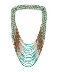 Forever 21 | Green Bold And Boho Beaded Necklace | Lyst