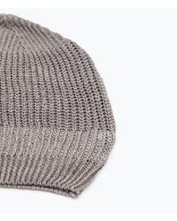 Zara | Gray Linen Knit Beanie for Men | Lyst