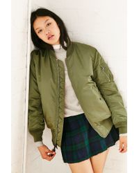 Alpha Industries | Green Ma-1 Bomber Jacket | Lyst