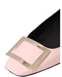 Roger Vivier - Pink 10mm Trompette Leather Ballerina Flats - Lyst
