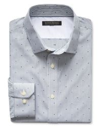 Banana Republic   Green Tailored Slim-fit Non-iron Dobby Dot Shirt for Men   Lyst