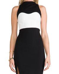 Nicholas - White High Neck Contrast Dress - Lyst