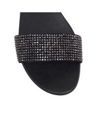 Vince Camuto | Black Endilla Flat Slip On Sandals | Lyst
