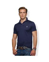 Polo Ralph Lauren   Blue Slimfit Stretch Mesh Polo for Men   Lyst