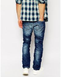 Replay - Blue Jeans Waitom Laserblast Straight Fit Dark Wash for Men - Lyst