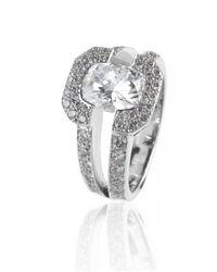 De Grace | Metallic Diamond Saturne Ring | Lyst