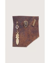 Vanessa Mooney | Metallic Zepplin Earring Set | Lyst