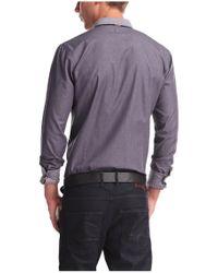 BOSS Orange | Purple 'edipoe' | Slim Fit, Cotton Twill Button Down Shirt for Men | Lyst