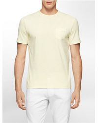 Calvin Klein | Yellow White Label Classic Fit Jersey Cotton T-shirt for Men | Lyst