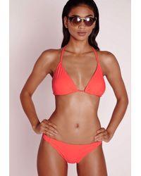 Missguided - Braid Detail Bikini Set Orange - Lyst
