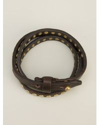 DSquared² - Metallic Calf Leather Bracelet for Men - Lyst