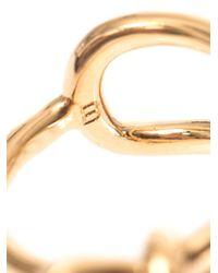Balenciaga - Metallic Asymmetric Bow Ring - Lyst