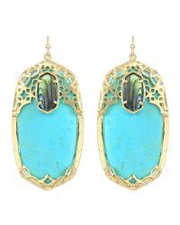 Kendra Scott - Blue Deva Turquoise Earrings Fiji - Lyst