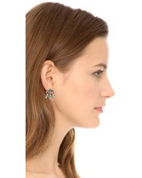 DANNIJO - Metallic Sumner Earrings - Silver/crystal - Lyst