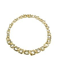 Alexis Bittar | Metallic Golden Ice Marquis Strand Necklace In 18k Gold | Lyst