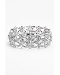 Nadri - Metallic 'celtic Knot' Crystal Bangle - Lyst