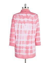 Calvin Klein | Red Tie-dyed Button Blouse | Lyst