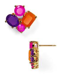 kate spade new york | Pink Crystal Stud Earrings | Lyst