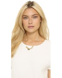 Kate Spade | Metallic All Aflutter Row Necklace - Gold | Lyst