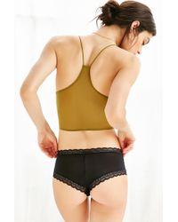 Urban Outfitters - Black Petra Geo Lace Tanga - Lyst