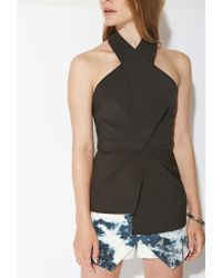 Forever 21 | Black Ministry Of Style Halter Top | Lyst
