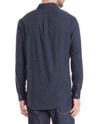 Polo Ralph Lauren - Blue Check Twill Sportshirt for Men - Lyst
