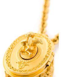 Karl Lagerfeld | Metallic Pill Box Necklace | Lyst