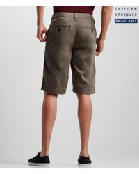 Aéropostale | Gray Uniform Solid Flat-front Shorts for Men | Lyst