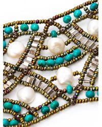 Ziio - Blue Beaded Bracelet - Lyst