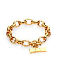 kate spade new york | Metallic Hummingbird Bow Charm Chain Bracelet | Lyst