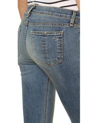 Rag & Bone - Blue Capri Mid-rise Skinny Jeans - Lyst