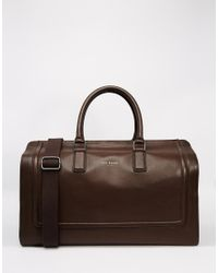 8aa3e3db8b7330 Lyst - Ted Baker Shalala Leather Holdall in Brown for Men