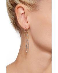 Lauren Klassen | Metallic Double Paperclip Earrings With Diamonds | Lyst