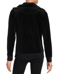 Calvin Klein - Black Sueded-trim Funnelneck Jacket - Lyst