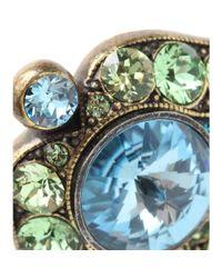 Lanvin - Blue Crystalembellished Clipon Earrings - Lyst