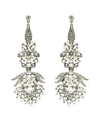 Ben-Amun | Metallic Floral Chandelier Drop Earrings | Lyst