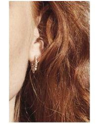 Pamela Love - Pink Spike Hoop Earring In Rose Gold - Lyst