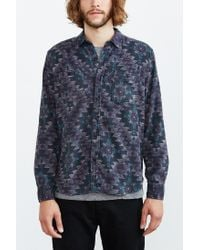 Stapleford | Blue Roan Printed Flannel Button-down Shirt for Men | Lyst