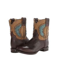Stetson - Brown Cutout Round Toe Ankle Boot - Lyst