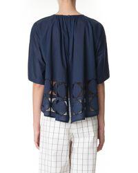 Tibi - Blue Mosaic Embroidered Kimono Top - Lyst