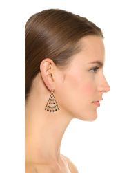 Kate Spade | Black Subtle Sparkle Statement Earrings - Jet | Lyst