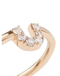 Alison Lou - Metallic Diamond & Yellow-Gold U Ring - Lyst