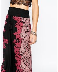 Band Of Gypsies | Multicolor Trouser With Placement Print | Lyst