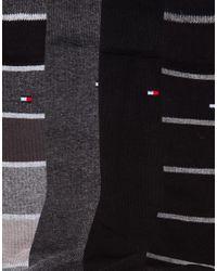 Tommy Hilfiger - Black 4 Pack Socks In Gift Box for Men - Lyst