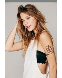 Free People - Gray Metal Upper Armband - Lyst