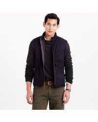 J.Crew | Blue Sussex Quilted Vest for Men | Lyst